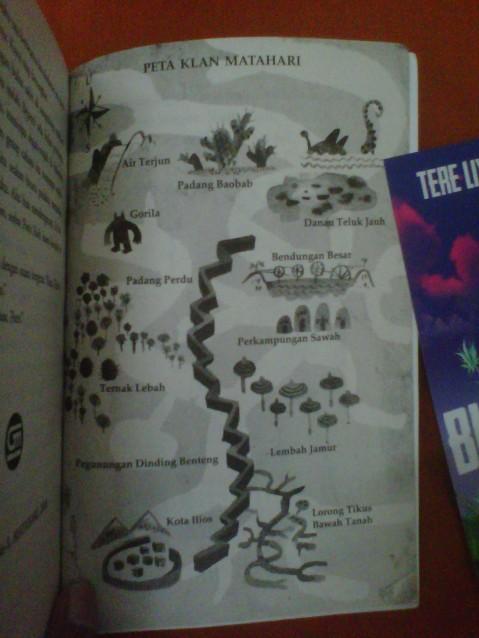peta Klan Matahari trilogi novel BUMI tere liye